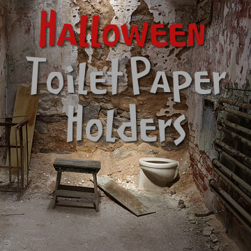 bathroom decor accessories for halloween toilet paper tissue roll holders
