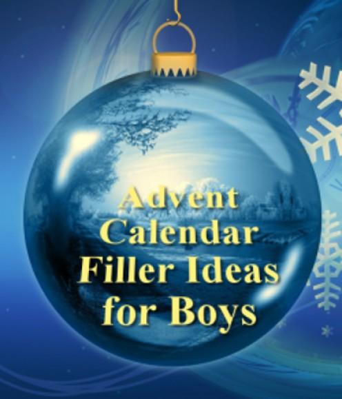 advent calendar filler ideas for kids boys