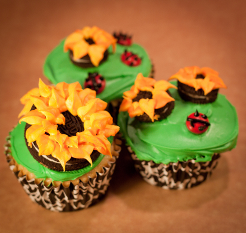 Spring Garden Sunflower Cupcakes