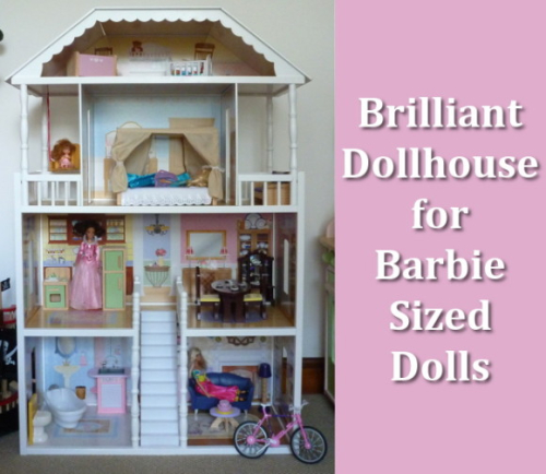Large Dollhouses For Barbie Size Dolls