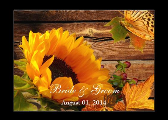 Custom Sunflower Wedding Invitations For Your Big Day