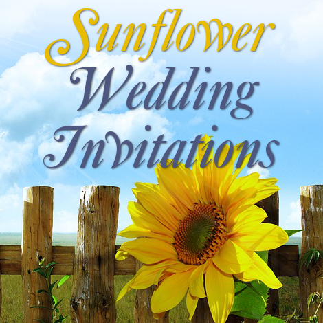 wedding invitations sunflower theme design