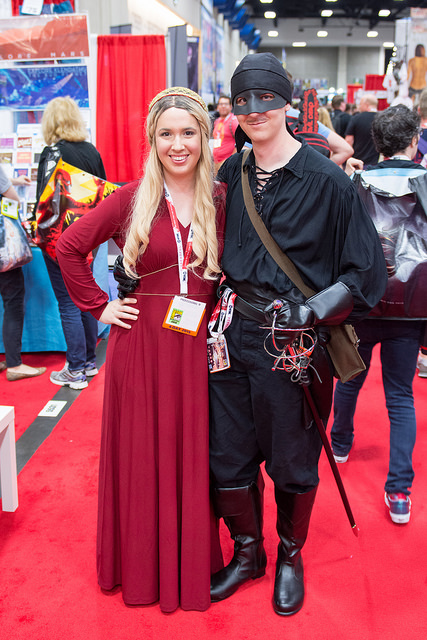 Princess Bride Buttercup Costume Red Dress