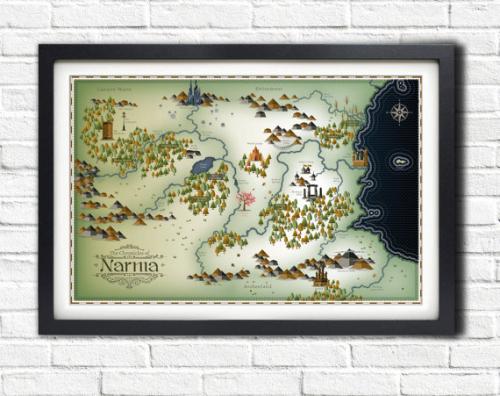 Narnia Map 17 x 11 Poster