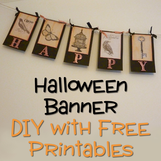 image regarding Free Printable Halloween Banner titled How in the direction of Deliver a Content Halloween Banner Decoration