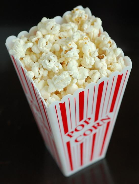 popcorn bucket holder with corn