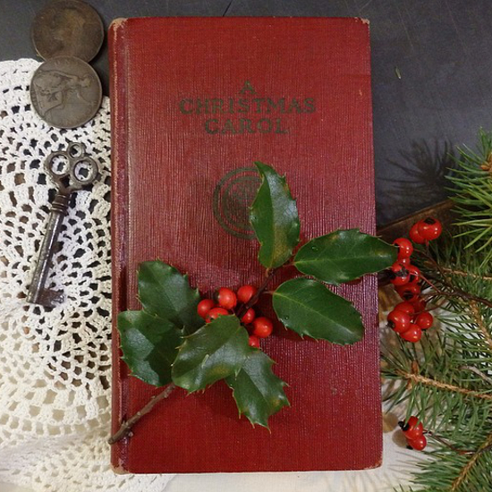 A Christmas Carol Story by Charles Dickens Book with Ebenezer Scrooge