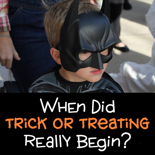 Trick or Treating when did it start originate begin in the UK