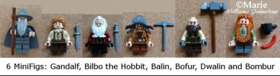 Minifigs in An Unexpected Gathering Hobbit Lego set