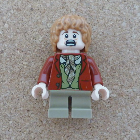 Bilbo Baggins Lego minifigure Hobbit character photo