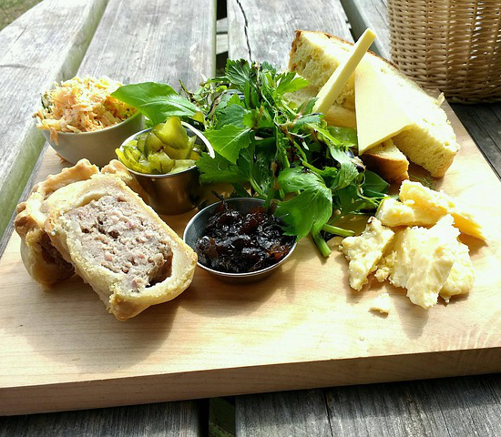 pork pie pickles bread salad