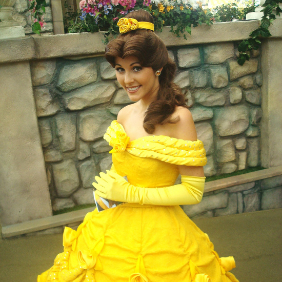 Disney Princess Belle in her yellow dress costume. Beauty and the Beast BELLE Costumes for Adults