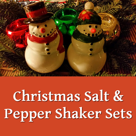 snowmen snowman winter Christmas Holiday festive salt and pepper shakers