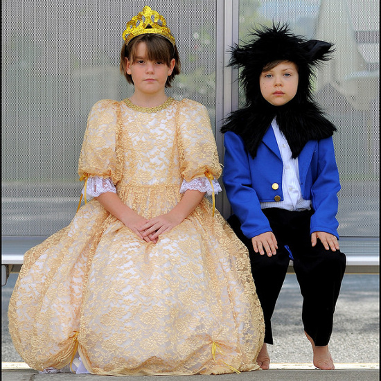 Beauty and the Beast Belle Beast Costumes Children Dressing Up Dressed Fancy Dress Boy and Girl