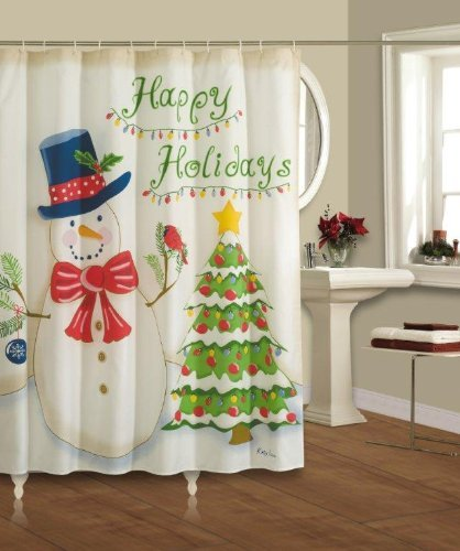 Holiday Shower Curtains for Christmas