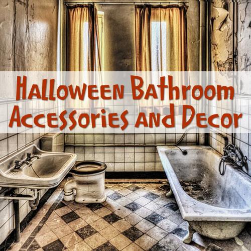 Halloween bathroom accessories decorations ideas inspiration bath room