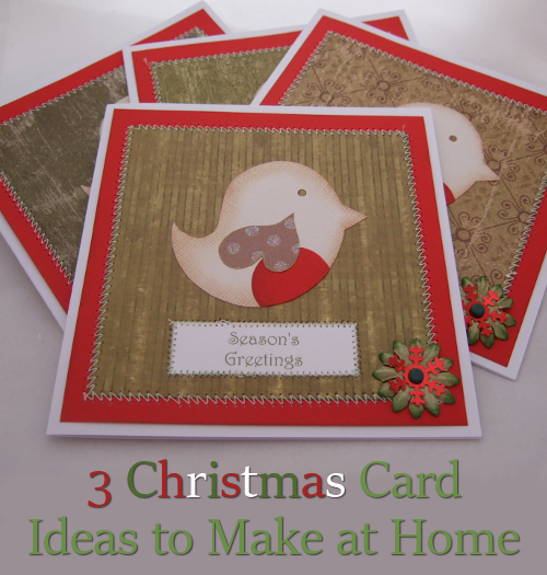 3 cute christmas greeting card ideas to make for Make your own christmas cards ideas