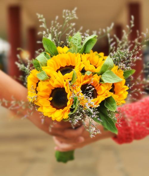 sun flower bouquet