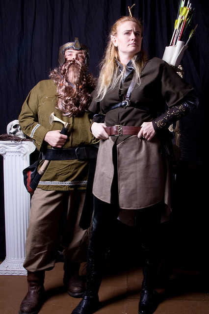 Tolkien lord of the rings dwarf and elf friends  sc 1 st  HalloweenAngel & Female Legolas Costume for Cosplay and Halloween