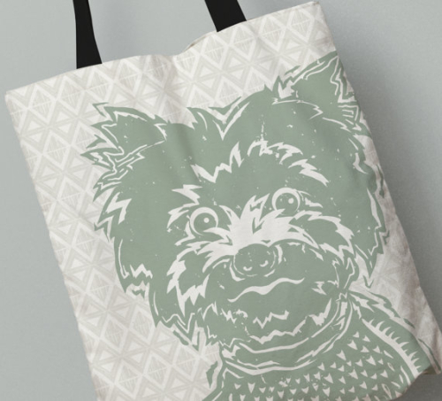 Yorkshire Terrier Tote Bag All Over Print Bags Available in 3 Sizes and 7 Colors