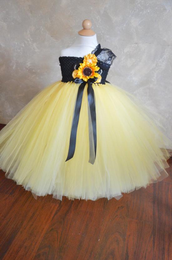 sunflower tulle tutu fairy dress