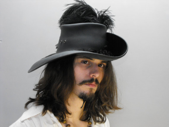 black cavalier hat ostrich feather