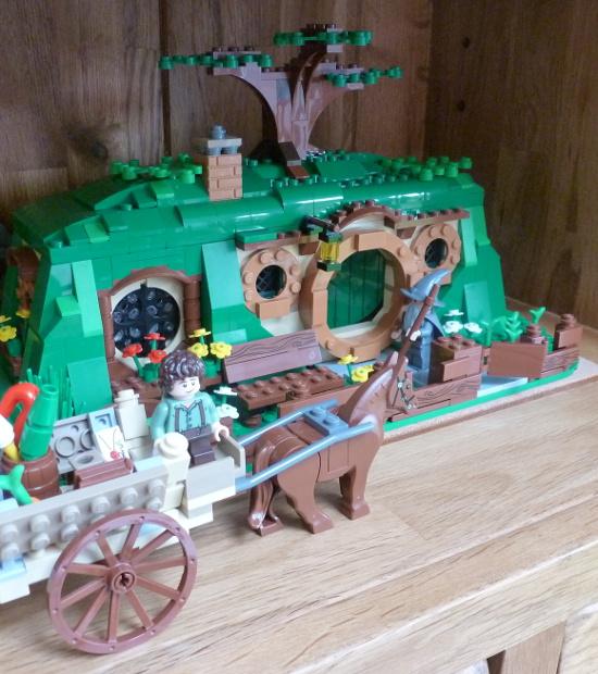 hobbit gift ideas Bag End Lego home house Gandalf minifigure cart wagon