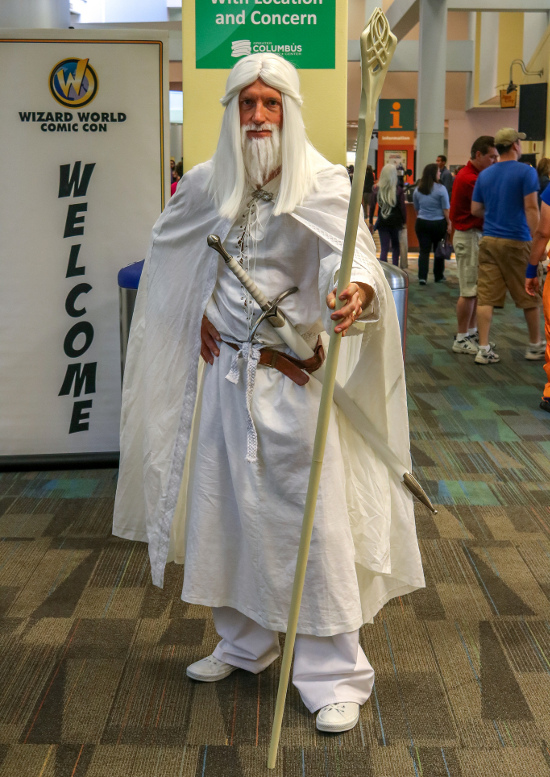 Wizard World Columbus Gandalf cosplay costume white robes