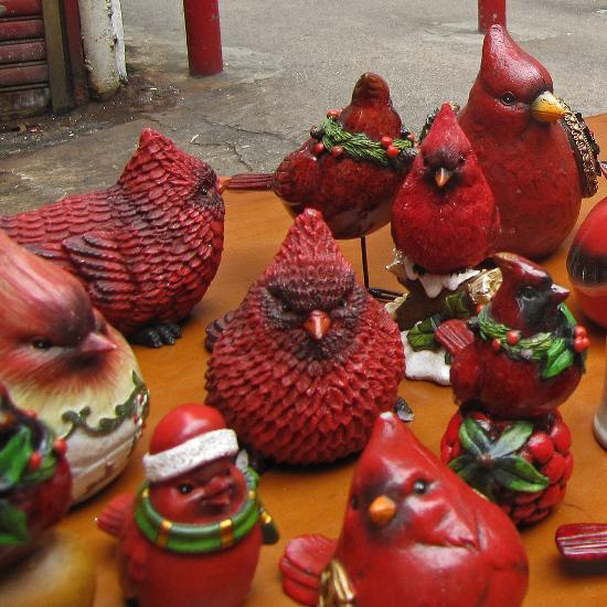 red Cardinal bird figurines sculptures ceramic collectibles gifts