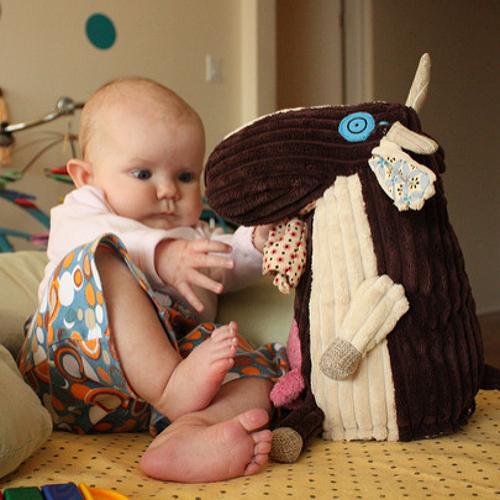 plush soft cow baby toy design