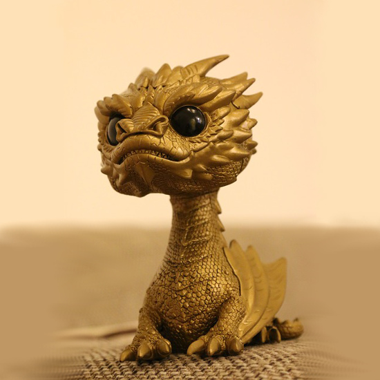 Gold color Smaug Hobbit dragon Funko pop collectible item figure