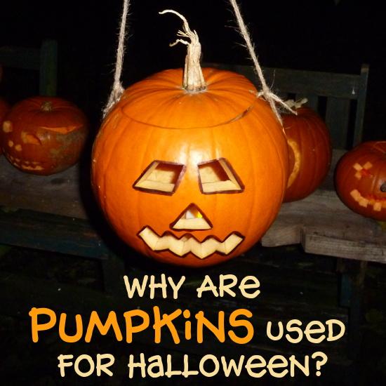 carved pumpkin Jack O Lantern hanging in night black sky why pumpkins used Halloween