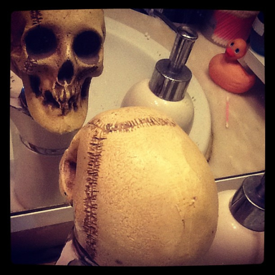 skull sink bath room zombie rubber duck