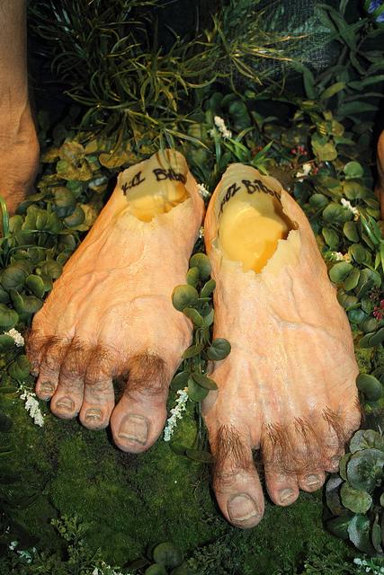 Bilbo Baggins Hobbit Prosthetic Feet, Weta Cave