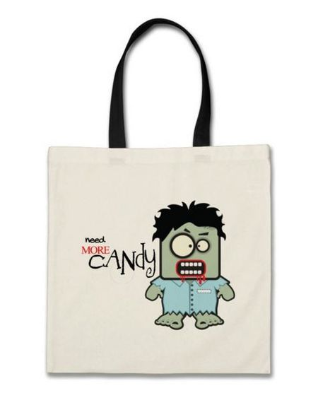 need more candy zombie custom bag tote zazzle