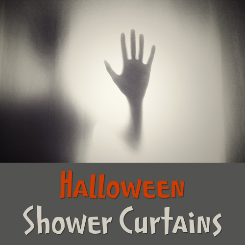 Shower Curtains For Halloween October 31st Horror Fans Fall Season