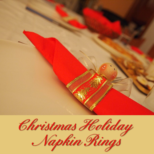 Christmas table napkin rings dress up a festive table with a beautiful and elegant style