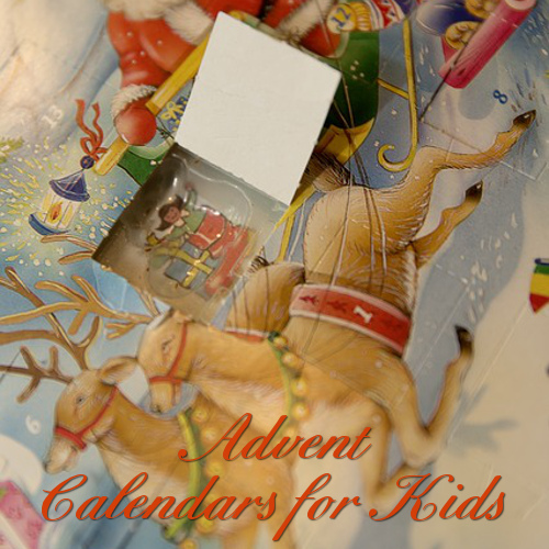 Advent calendars kids children toys chocolate non-candy secular