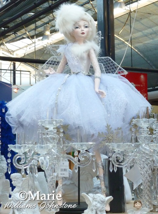 winter ice snow queen doll decoration decor