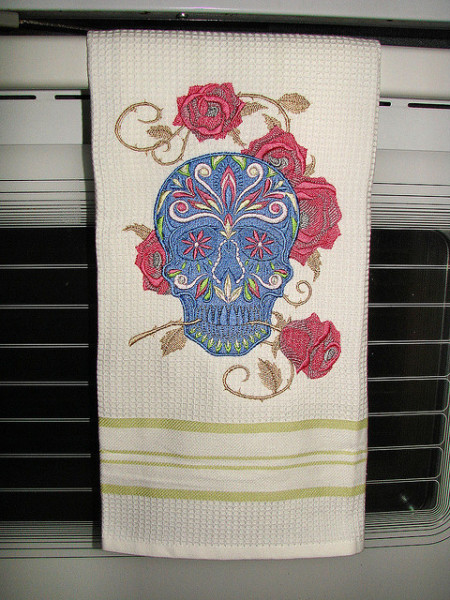 Rose and Skull Towel