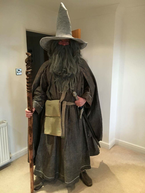 Adult Licensed Lord Of The Rings Gandalf Mens Wizard Fancy Dress Costume New