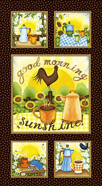 Good Morning Sunshine Panel Good Morning Sunshine Collection by Beth Logan Henry Glass 9746P-33 sold by the panel