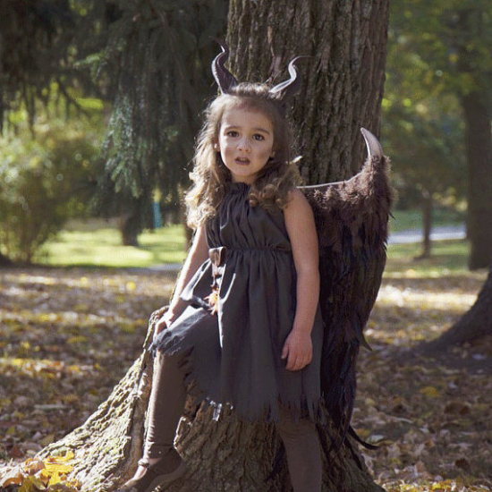 choose your options young maleficent inspired costume wings horns 3d printed dress and accessories girls