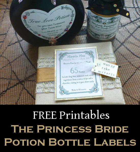 Princess bride apothecary bottle labels