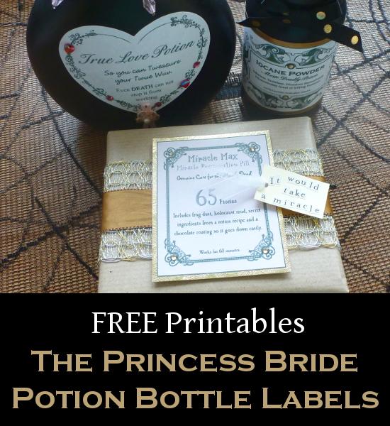 Princess bride apothecary bottle labels