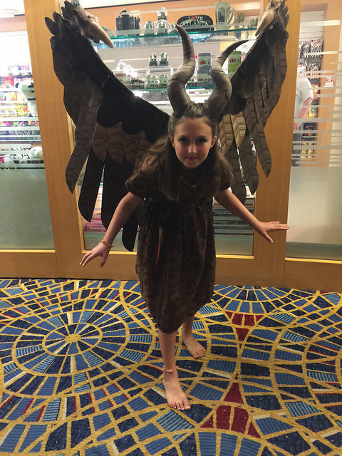 young maleficent fairy costume
