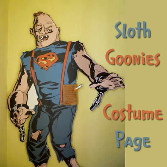 sloth goonies fancy dress page cosplay Halloween
