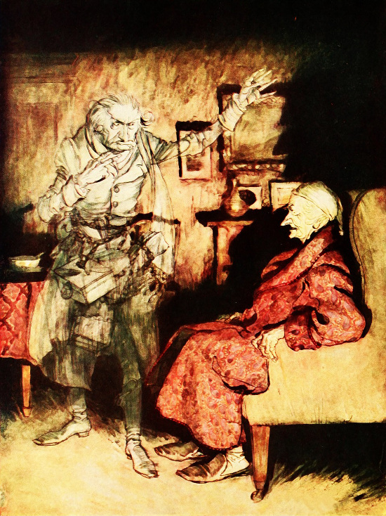 A Vintage Christmas JACOB MARLEY'S GHOST from CHARLES DICKENS