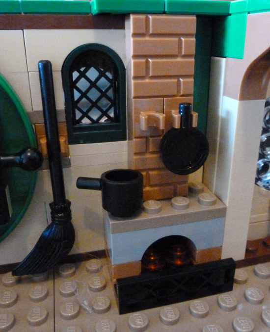One of My Favorite Parts Was Building the Little Brick Fireplace Inside