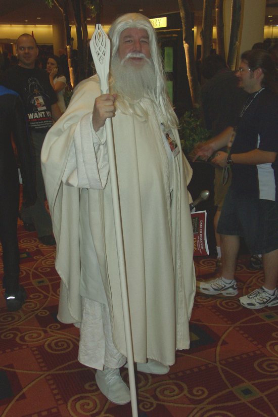 DragonCon Gandalf the white cosplay character LOTR